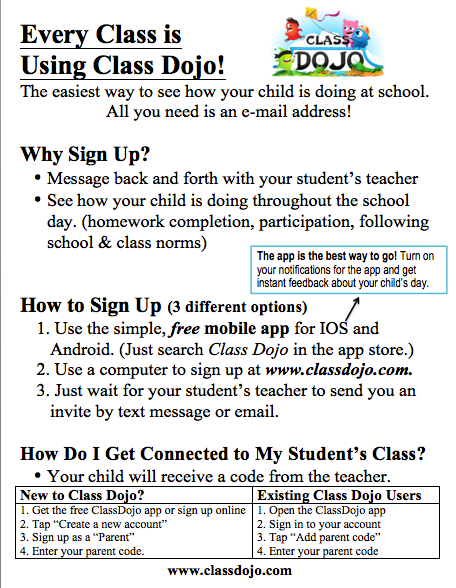 Class Dojo Sign Up Our Classroom Our Community